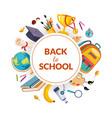 back to school banner template school supplies vector image vector image