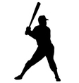 Baseball player silhouette vector image