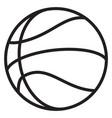 basketball contour vector image vector image