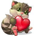 beautiful kitten vector image