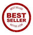 best seller simple stamp round vector image vector image