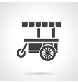 Black food cart glyph style icon vector image vector image