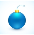 Blue isolated Christmas ball vector image