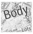 Body Building for Fitness Word Cloud Concept vector image vector image