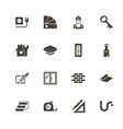 building house - flat icons vector image vector image