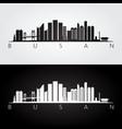 busan skyline and landmarks silhouette vector image vector image