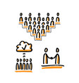 business community stick figures vector image vector image