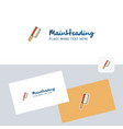 butcher knife logotype with business card vector image
