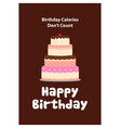 cake tart for birthday card vector image