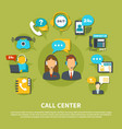 call center composition vector image vector image