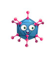 cartoon adenovirus cell icon virus or germ vector image vector image