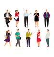 cartoon casual people on white vector image vector image