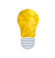 crumpled paper lightbulb - creative sketch draw vector image vector image