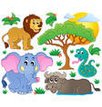 cute african animals collection 2 vector image vector image