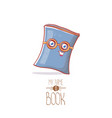 cute cartoon book character with eyes isolated on vector image