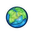 earth globe isolated on white background vector image