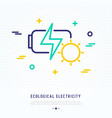 eco battery thin line icon vector image