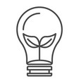 eco leaf bulb icon outline style vector image