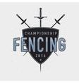 Fencing championship badge vector image vector image