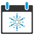 Fireworks Boom Calendar Day Toolbar Icon vector image vector image