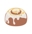 flat icon of sweet cake or baba au rhum with white vector image