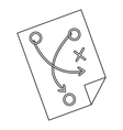 Football tactic icon outline style vector image vector image
