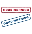 Good Morning Rubber Stamps vector image vector image