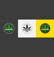 graphic logo with a green cannabis leaf organic vector image vector image