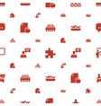 group icons pattern seamless white background vector image vector image