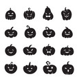 halloween pumpkin faces scary pumpkins bloody vector image vector image