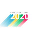happy new year 2020 festive bright card in vector image vector image