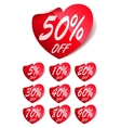 Heart Sale Labels vector image vector image