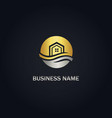 home eco realty gold logo vector image