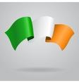 Irish waving Flag vector image vector image