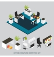 Isometric Interior Composition vector image vector image