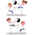 karate kids vector image vector image