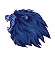 lion roaring logo mascot icon template vector image vector image