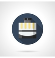 Mens fragrance flat color round icon vector image