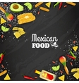 Mexican Food Seamless Background vector image vector image