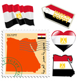 national colours of Egypt vector image