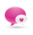 Pink and white message of love icons vector | Price: 1 Credit (USD $1)