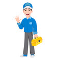 professional auto mechanic in uniform vector image