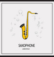 saxophone isolated icon vector image vector image