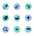 set of simple agricultural vector image