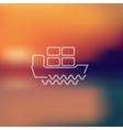 ship icon on blurred background vector image