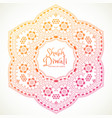 shubh diwali festival mandala art vector image vector image