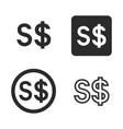singapore dollar currency symbol set vector image