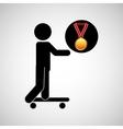 skater medal sport extreme graphic vector image
