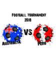 soccer game australia vs peru vector image vector image