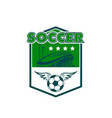 soccer team sign vector image vector image